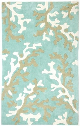 This is a rug I could live with forever.  Coral would go with my beach themed decor.