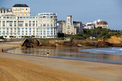 La plage de Biarritz...