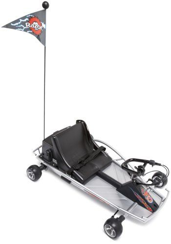 Razor Ground Force Electric Go-Kart (Silver). uitable for riders ages 8 and older, the sleek Ground Force go-kart attains a maximum speed of 12 miles per hour, making it the perfect kart for zipping around flat trails.