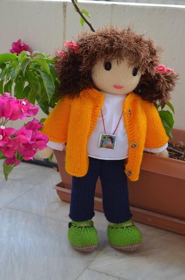 Pavlina knitted doll - by Katerina Maletzidou