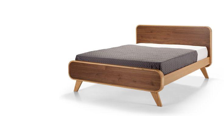 Fonteyn kingsize bed van 160 x 200 cm in eiken- en walnootfineer | made.com