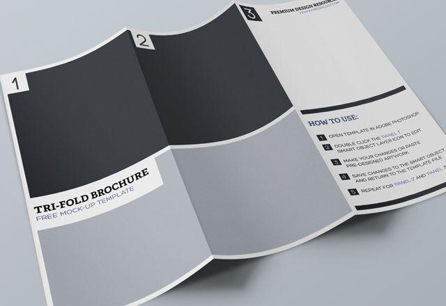 Tri Fold Brochure #mockup template