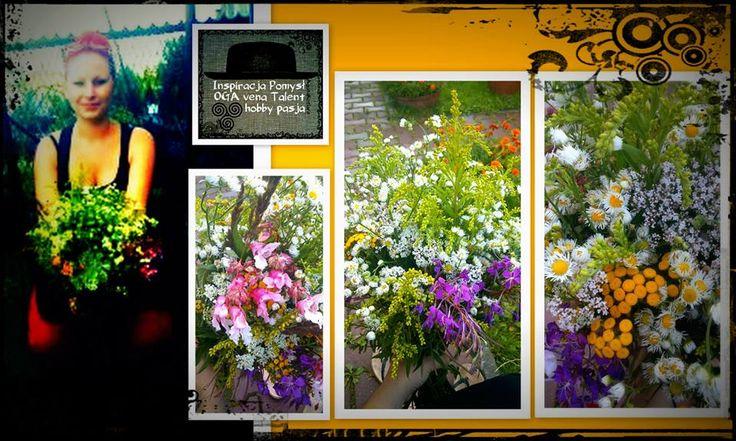 Bukiet z polnych kwiatów.