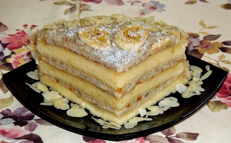 Самые вкусные рецепты: Банановый торт с миндалем и кокосом