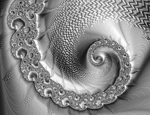 Digital Art - Amazing Metallic Shiny Silver And Grey Fractal Spiral by Matthias Hauser