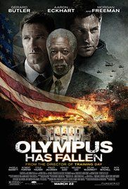 OLYMPUS HAS FALLEN (2013): Disgraced former Presidential guard Mike Banning finds himself trapped inside the White House in the wake of a terrorist attack; using his inside knowledge, Banning works with national security to rescue the President from his kidnappers.