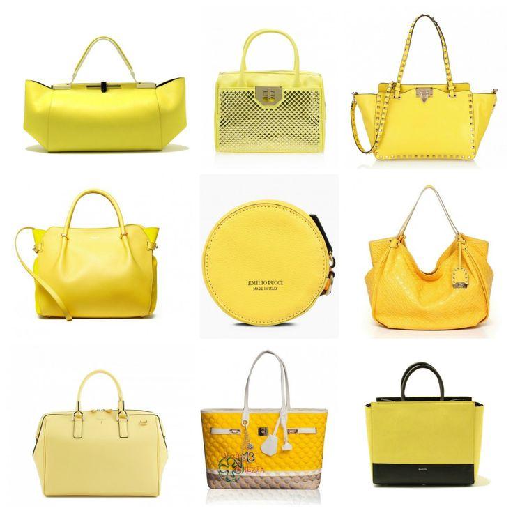 Can we do without yellow this season? Your favourite? Zanchetti, Pinko, Valentino, Nina Ricci, Emilio Pucci, Gherardini, Serapian, V73, Zanchetti. Zanchetti bags on STYLENOVO #madeinitaly
