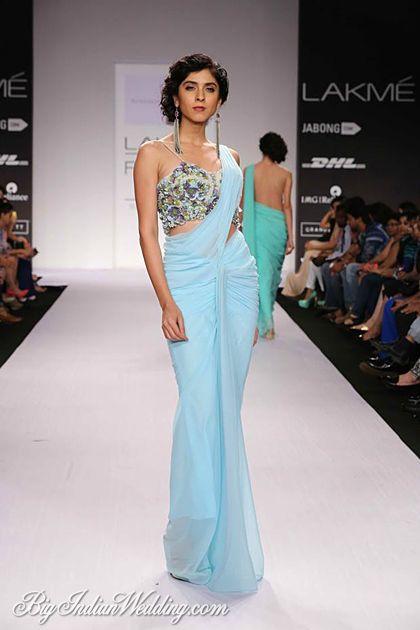 Blue Ethnic Wear For Women By Sonaakshi Raaj Lakme Fashion Week 2014 Pinterest Indian