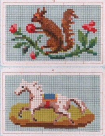 Potential Needle-book covers for Fanciful Utility projects. berlin woolwork chart