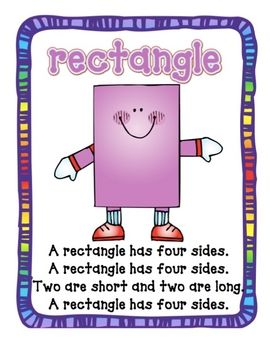Here are shape poems/song that you can sing with your students to help in remember the attributes for a triangle, rectangle, circle, triangle....#Repin By:Pinterest++ for iPad#
