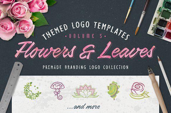 Logo Bundle Vol.5 - Flowers & Leaves by Zack Fair Design on @creativemarket