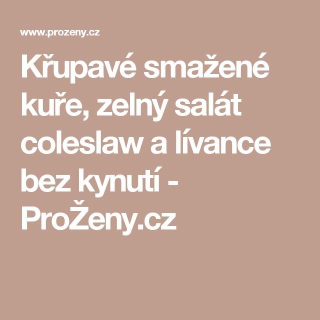 Křupavé smažené kuře, zelný salát coleslaw a lívance bez kynutí - ProŽeny.cz