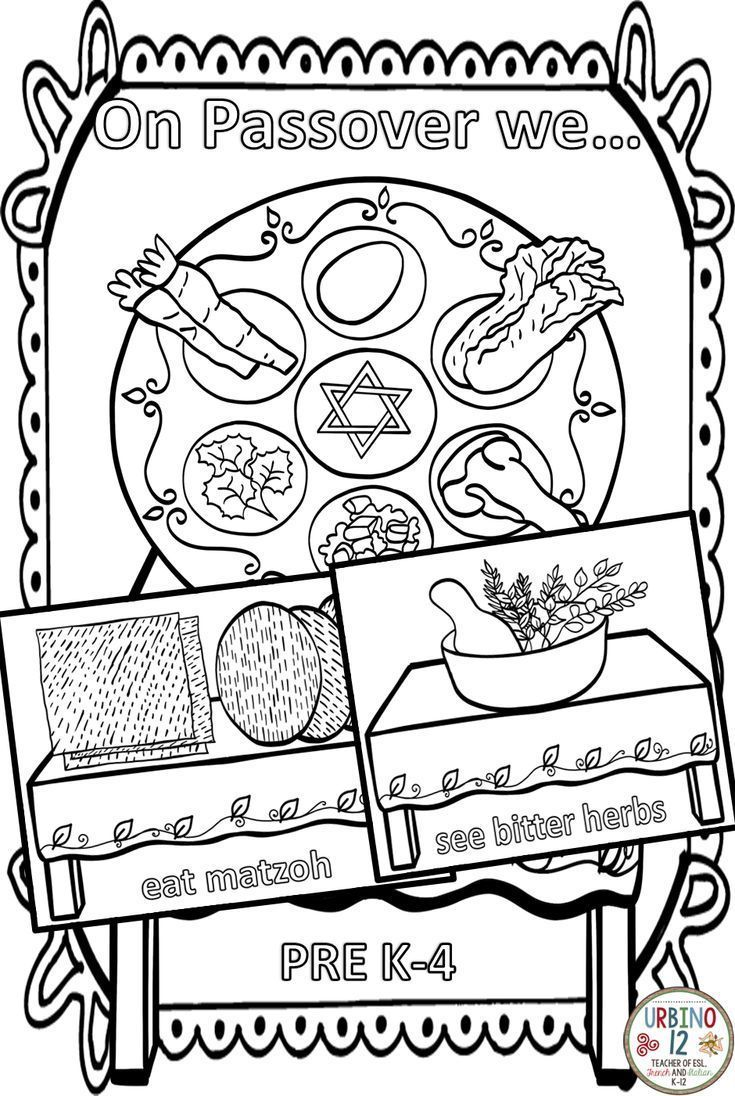 On Passover Coloring World Language Classroom Classroom Language Vocabulary Words [ 1096 x 735 Pixel ]