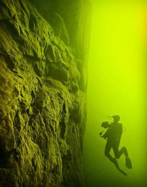 Scuba diving in West Hawk Lake, Manitoba, the central portion of which was formed by a meteor impact. Take the plunge! #exploremb