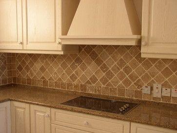 Tumbled Travertine Backsplash - traditional - Kitchen - Other Metro - StoneMar Natural Stone Company LLC