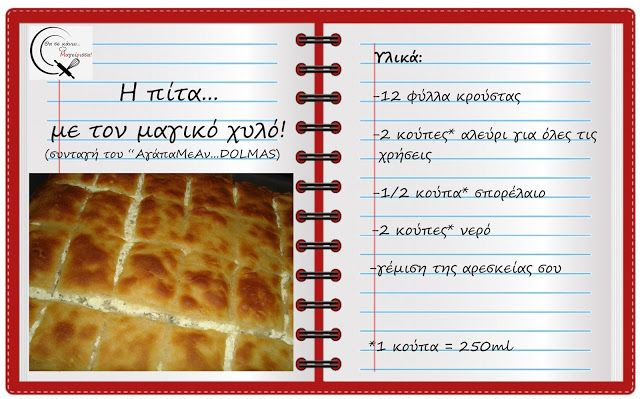 Θα σε κάνω Μαγείρισσα!: Η πίτα...με τον μαγικό χυλό!