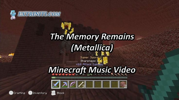 The Memory Remains Minecraft Nether Fortress Music Video (Metallica) featuring www.JoshGame.com gameplay