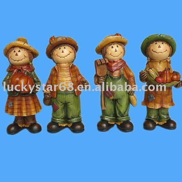 de acción de gracias resínico figuras espantapájaros-Artesanías Populares-Identificación del producto:366435234-spanish.alibaba.com