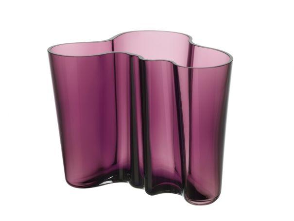 Iittala Alvar Aalto vase 160mm dark lilac