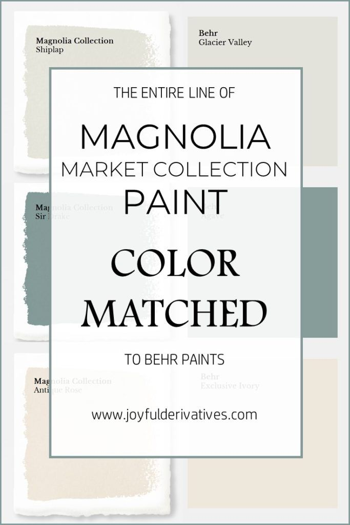Magnolia Market Collection Paints Color Matched To Behr Fixer Upper Joanna Gaines Paint Home Depot Match Farmhouse Colors How Get