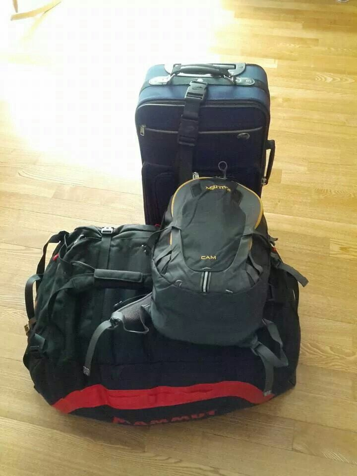 Bags packed and ready to go