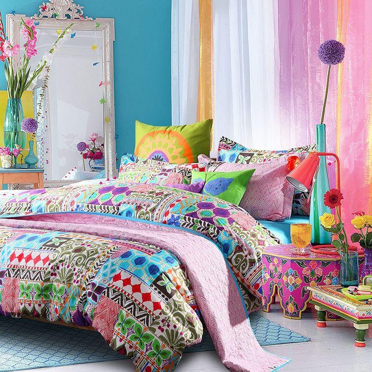 colorful design bohemian comforter sets