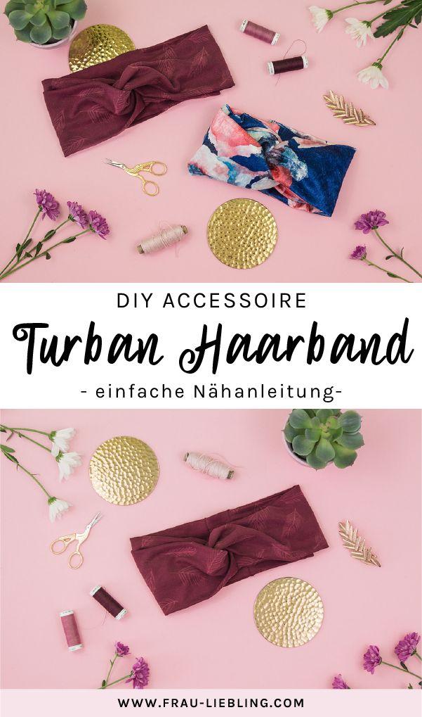 DIY-Zubehör: Sommerliches Turban-Haarband zum Selbernähen   – Ideen Sammlung✒