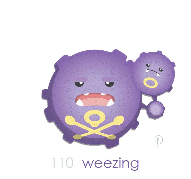 Weezing while koffing looks happy enough to crap a rainbow weezing always seems sad