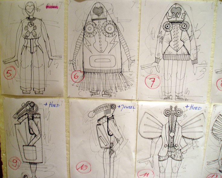 ///Walter Van Beirendonck Design sketches