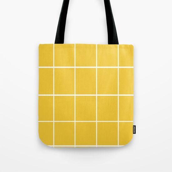Sunrise Grid Tote Bag