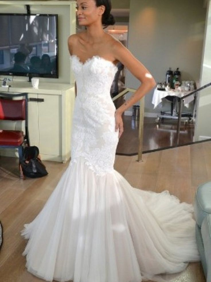 White Gelinlik 2015 vestidos de noiva Vintage Wedding Dress with Mermaid Style Appliqued Tulle Bridal Gown Custom Made