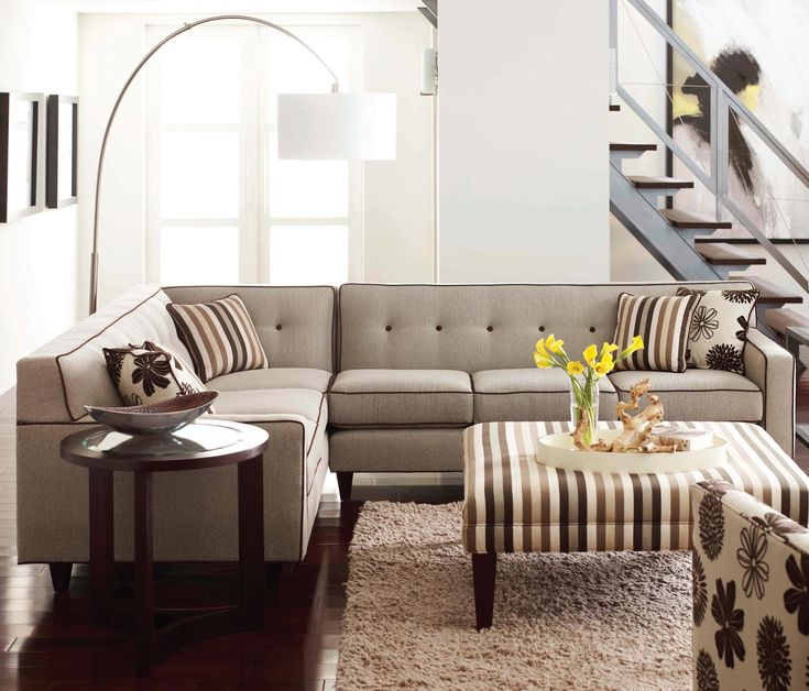 Dorset Corner Sectional With Tufted Back By Rowe