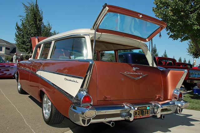 1000 images about 1957 chevrolet wagon on pinterest for 1957 chevy 4 door wagon for sale