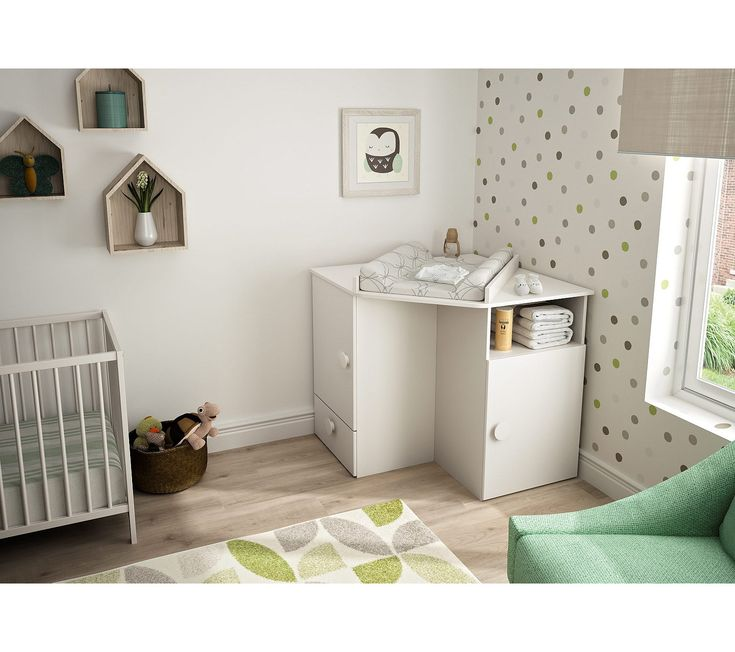 Table à langer LUNA baby corner blanc   – Commode bébé