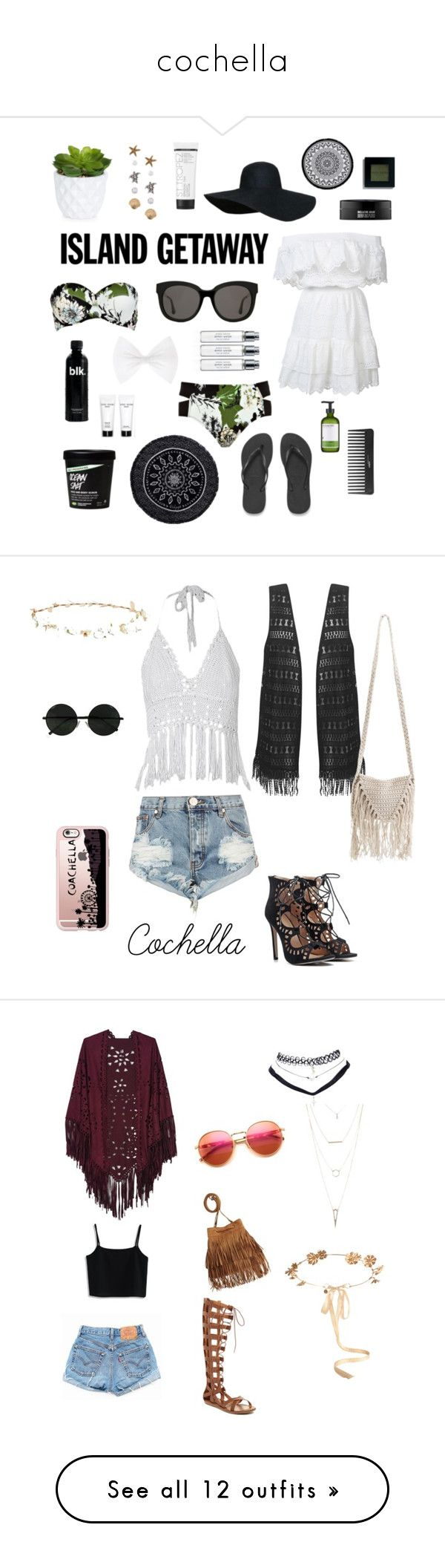 """""""cochella"""" by lenaskylerthompson-1 ❤ liked on Polyvore featuring River Island, LoveShackFancy, New Look, Havaianas, Perricone MD, Sephora Collection, The Beach People, Bobbi Brown Cosmetics, Gentle Monster and Linum Home Textiles"""