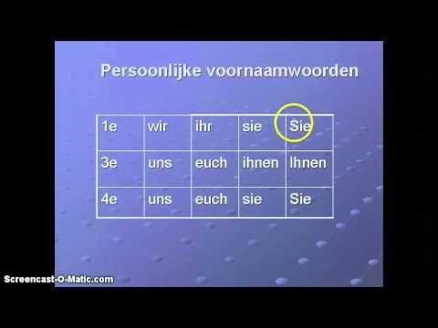 Duitse grammatica: persoonlijk voornaamwoord