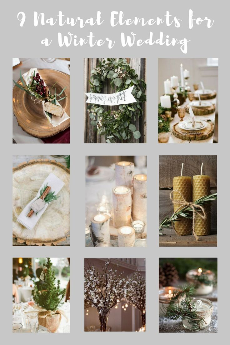 9 Natural Elements for a Winter Wedding #WeddingDecor