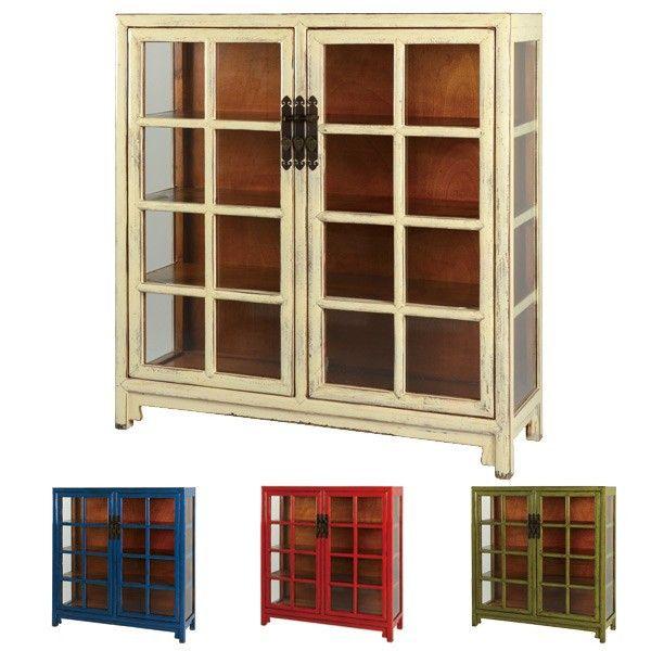 李朝家具を現代風にアレンジしたシリーズです。ヨーロッパ家具との相性が良く、シンプルながらも独特な雰囲気に。色合いと金具の美しさが魅力です。あえて使い込んだような塗装を施して、アンティーク感をより際立てています。【商品詳細】 サイズ/約幅124×奥行40×高さ130cm 内容量/1台 材質/天然木 カラー/ブルー、グリーン、レッド、アイボリー 生産国/中国 型番/CHN-0200-BL、CHN-0200-GR、CHN-0200-RD、CHN-0200-WH 備考/ウレタン塗装、ツヤあり ※ところどころにはがし塗装を施し、下地の見えるアンティーク調となっています。【商品区分】[メーカー直送][返品区分C][代引不可]《シャビーシック アンティーク モダン カフェ インテリア》