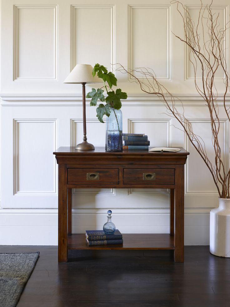 The rich toned finish of the Victoria range features in this useful console  table. 10 best Dark Wood Furniture Ideas   Inspiration images on