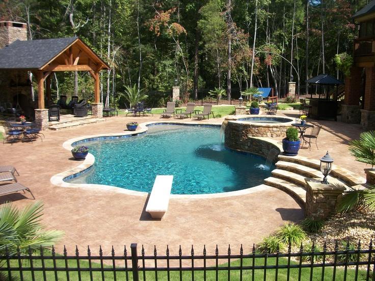 Ultimate Backyard Pools : Backyard Vacations by Browns Pools & Spas on Pinterest  Gunite pool