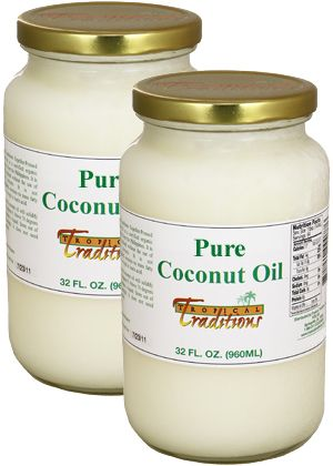 Photo of Expeller-Pressed Coconut Oil - Non-Certified - 32 oz. 2-pack. This coconut oil is good for soap making, skin care, hair and as a healthy cooking oil.