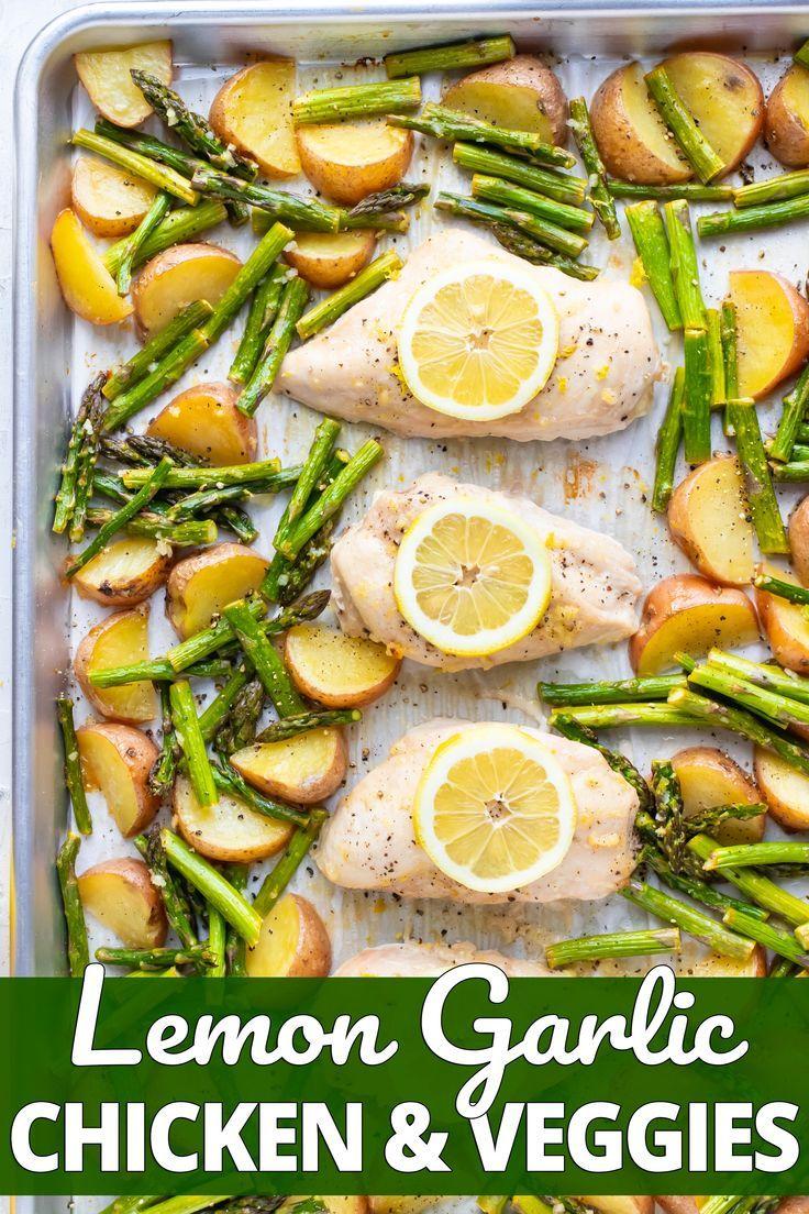 Baked Lemon Garlic Chicken and Asparagus
