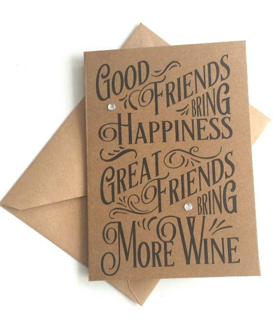 Friendship card birthday card for a friend friends by KraziCrochet