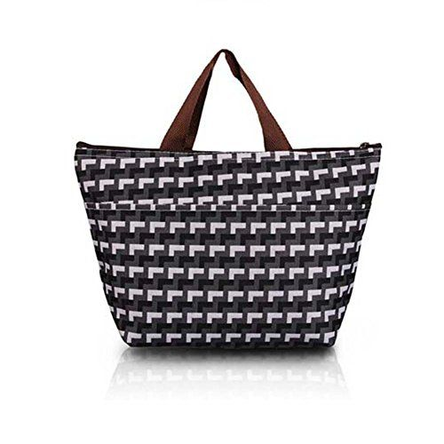 Wawoo�Waterproof Picnic Lunch Bag Tote Insulated Cooler Travel Organizer 32*12*22cm Grid
