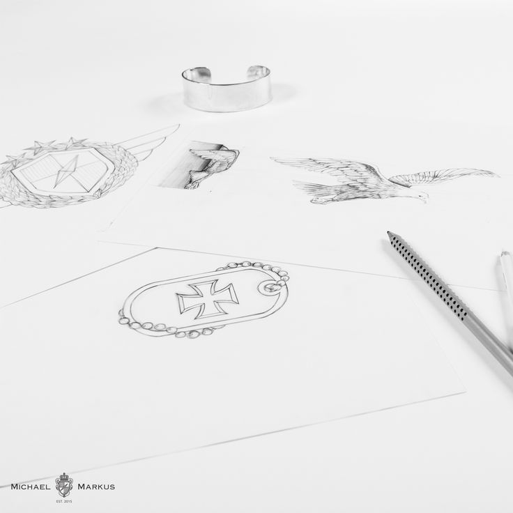 The design process of Michael & Markus jewelry. AQUILA The eagle sees no limits and reaches for the sky.