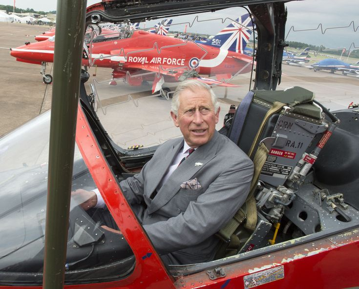 Prince Charles, Prince of Wales sits in the cockpit of a Red Arrows Jet during a visit to the Royal International Air Tattoo at RAF Fairford on July 11, 2014 in Fairford, England.on July 11, 2014