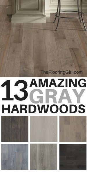 13 Amazing Gray Hardwood Floors and where you can buy them online.