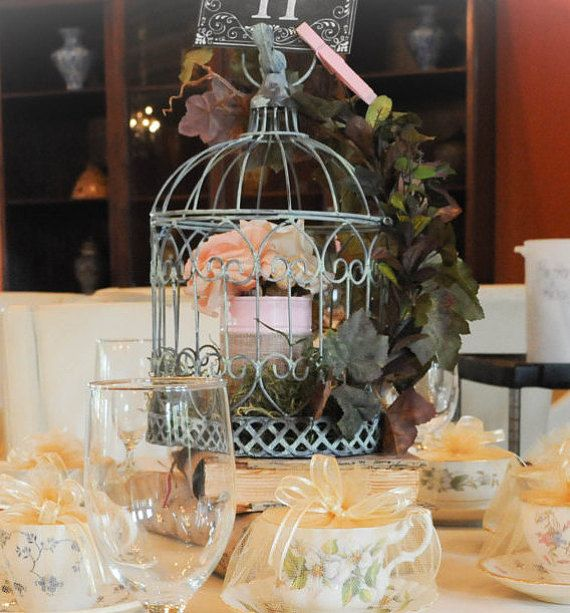 Birdcage Rustic Centerpiece Wedding by Crafts4UByMaia on Etsy
