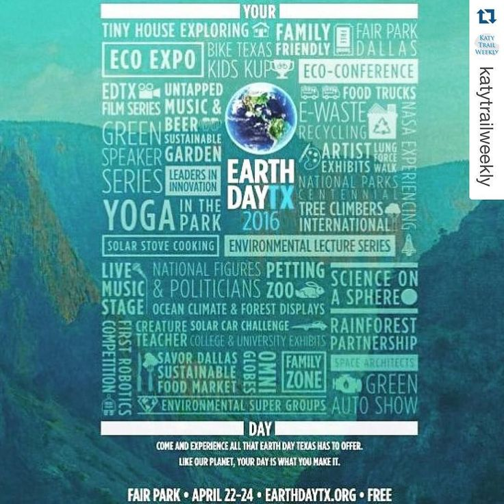 Make plans to attend #earthdaytx this weekend at #fairpark! So much to do! #dallas #events #earthday #texas #event #celebrate #fairparkdallas #edtx #tinyhouse #repost @katytrailweekly by blackwoodrealestateadvisors