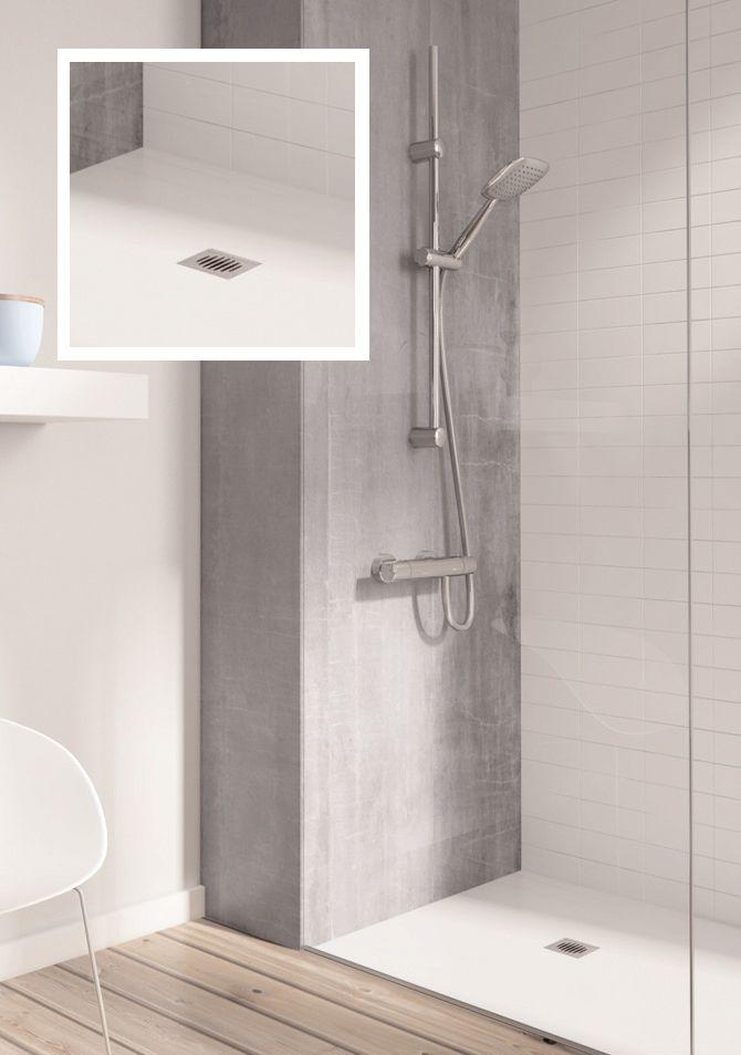 Duchas en el suelo ducha con paredes de piedra y suelo de - Suelo ducha pizarra ...